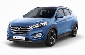 Новый Hyundai Tucson в ярко-голубом цвете Ara Blue