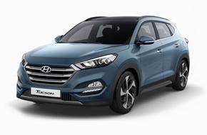 Новый Hyundai Tucson в голубом цвете Ash Blue