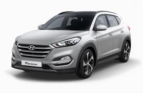 Новый Hyundai Tucson в серебристом цвете Platinum Silver