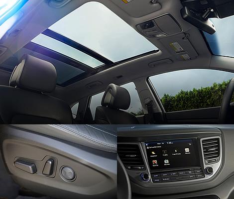Опции и комфорт Hyundai Tucson